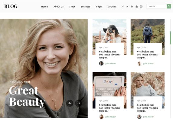 Ovation Blog WordPress Theme