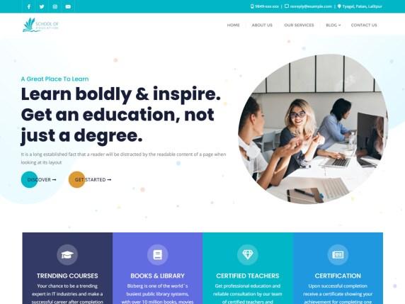 School of Education WordPress Theme