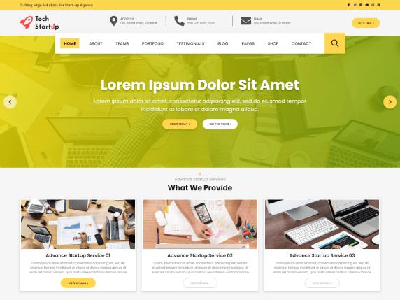 Tech Startup WordPress Theme