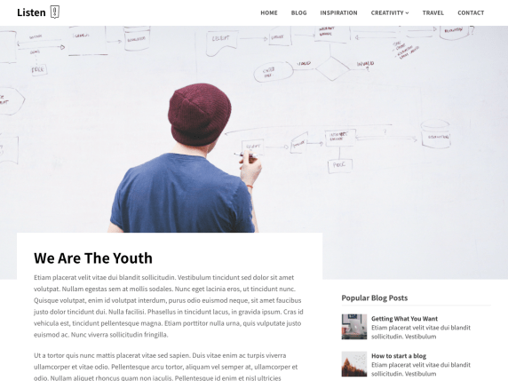 We Are The Youth WordPress Theme