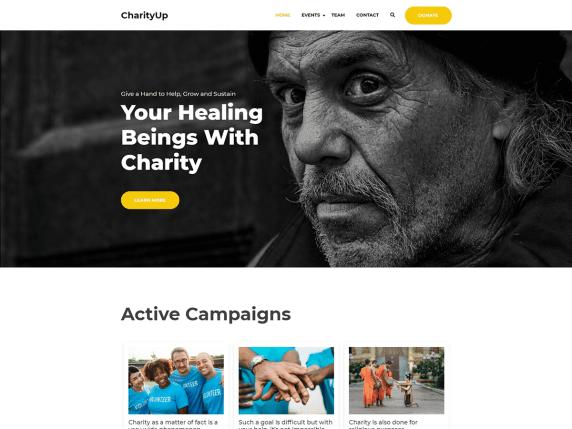CharityUp WordPress Theme