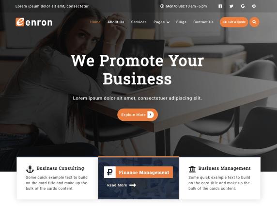 Enron WordPress Theme