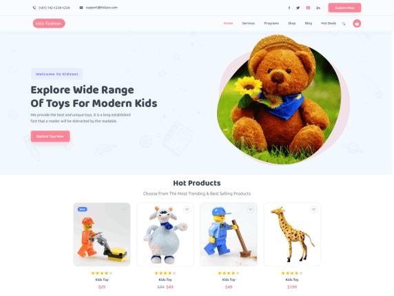 Kids Fashion WordPress Theme