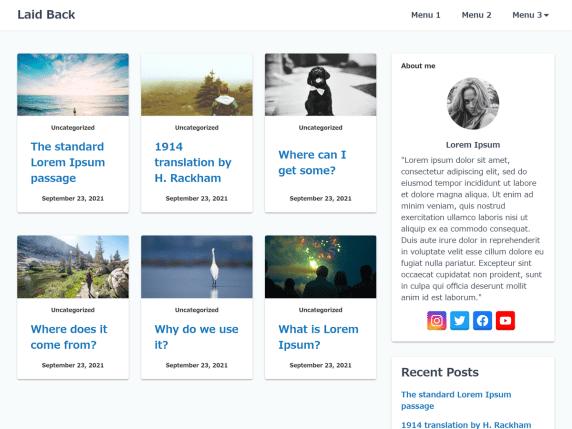 Laid Back WordPress Theme