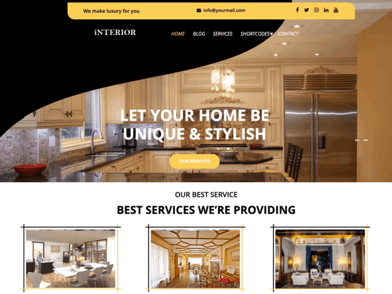 Luxury Interior WordPress Theme