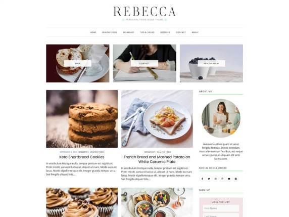 RebeccaFood WordPress Theme