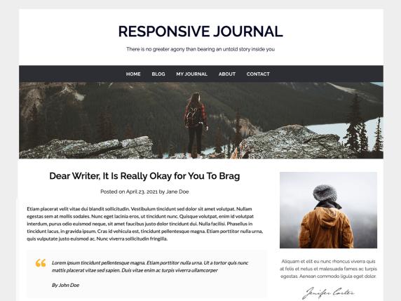 Responsive Journal WordPress Theme