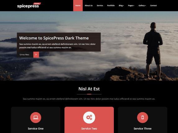 SpicePress Dark WordPress Theme