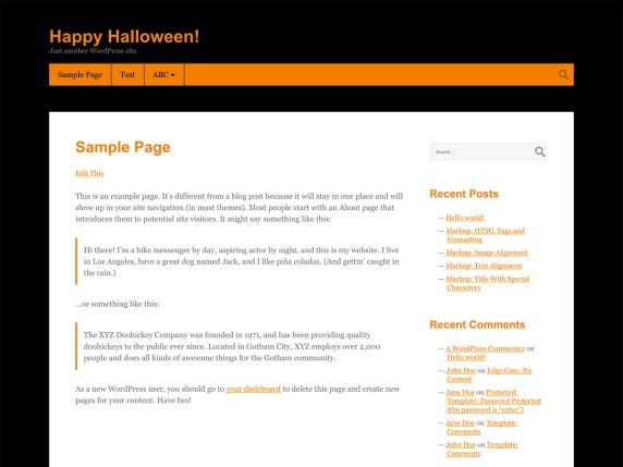Halloween WordPress Theme