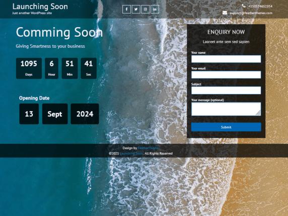 launching soon Lite WordPress Theme