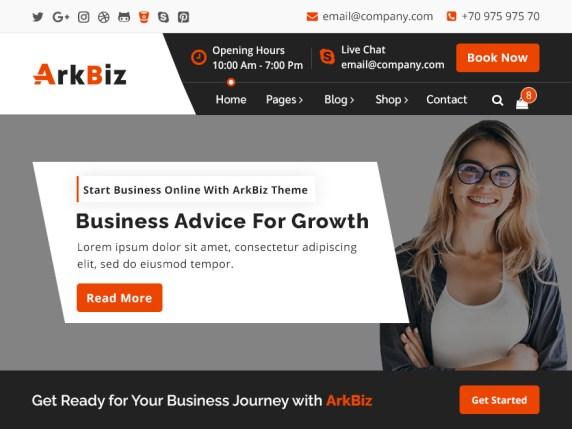 ArkBiz WordPress Theme