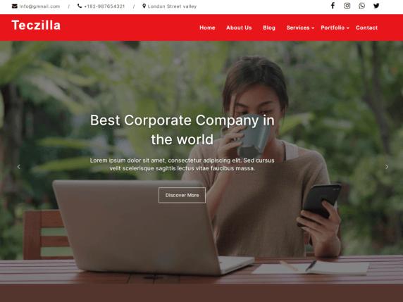Teczilla Corporate WordPress Theme