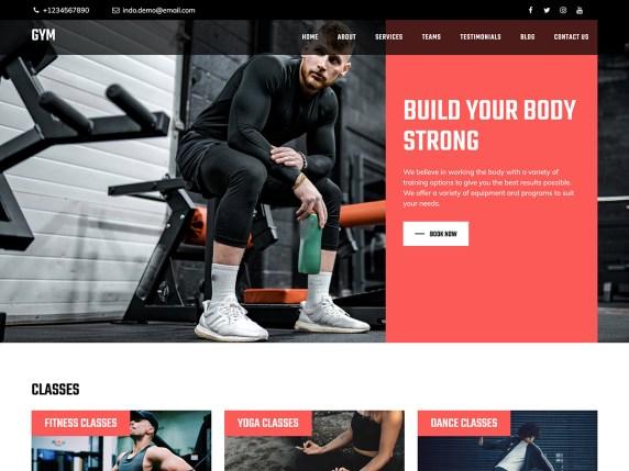 Bootstrap Fitness WordPress Theme