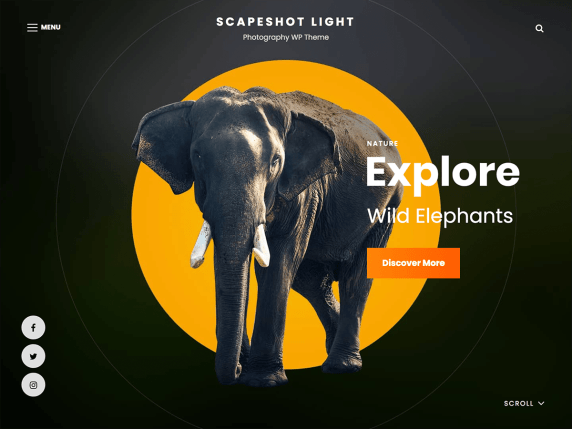 Scapeshot Light  WordPress Theme